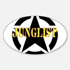junglist military star Rectangle Decal