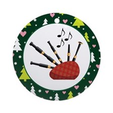 Bagpipes Christmas Ornament Gift Ornament (Round)