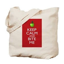 Keep Calm and Bite Me Tote Bag