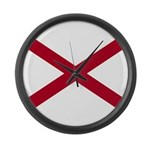 Flag of Alabama Large Wall Clock