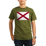 Flag of Alabama Organic Men's T-Shirt (dark)