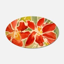 Red orchids! Beautiful art! Wall Decal