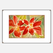 Red orchids! Beautiful art! Banner