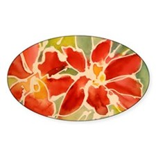 Red orchids! Beautiful art! Decal