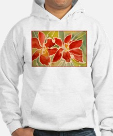 Red orchids! Beautiful art! Hoodie