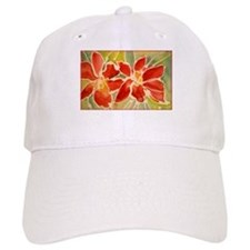 Red orchids! Beautiful art! Baseball Baseball Cap
