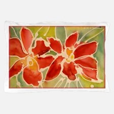 Red orchids! Beautiful art! Pillow Case