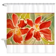 Red orchids! Beautiful art! Shower Curtain