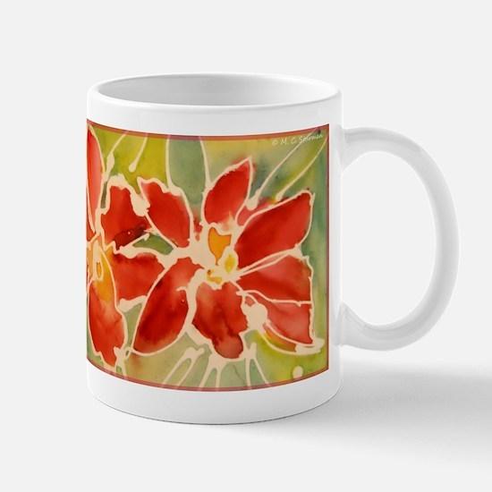 Red orchids! Beautiful art! Mug