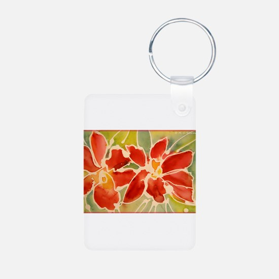 Red orchids! Beautiful art! Keychains