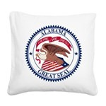 The Great Seal of Alabama 1868-1939 Square Canvas