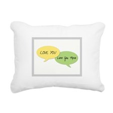 Love You Rectangular Canvas Pillow