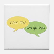 Love You Tile Coaster