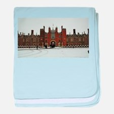 Hampton Court Palace in the Snow baby blanket