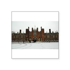 Hampton Court Palace in the Snow Square Sticker 3""