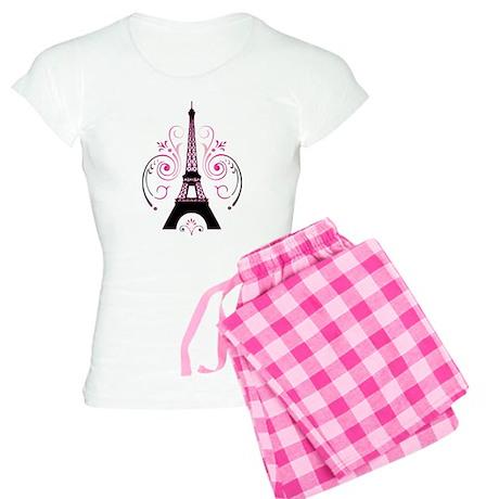 Eiffel Tower Gradient Swirl Women's Light Pajamas