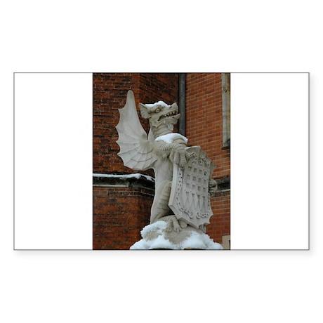 Hampton Court Palace Griffin Sticker (Rectangle)