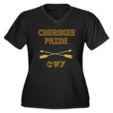 Cherokee Pride With Arrows Women's Plus Size V-Nec