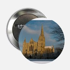"Salisbury Cathedral in the Snow 2.25"" Button"