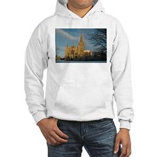 Salisbury Cathedral in the Snow Hoodie