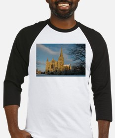 Salisbury Cathedral in the Snow Baseball Jersey
