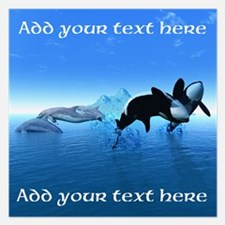 Dolphins and Orca's Invitations