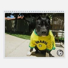 Cute Pit bull rescue central Wall Calendar