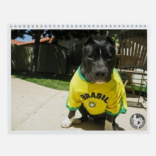 Unique Pit bull rescue central Wall Calendar