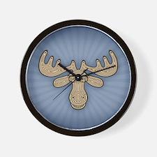 Mocha Moose Wall Clock