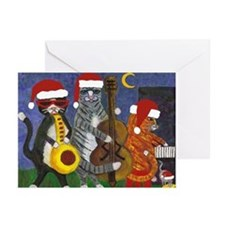 Jazz Cats Christmas Music Greeting Cards (Pk of 20