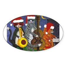 Jazz Cats Christmas Music Decal