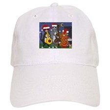 Jazz Cats Christmas Music Baseball Cap