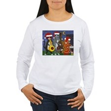 Jazz Cats Christmas Music T-Shirt