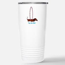 Hula Hoop Dachshund Travel Mug