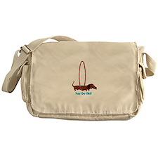Hula Hoop Dachshund Messenger Bag