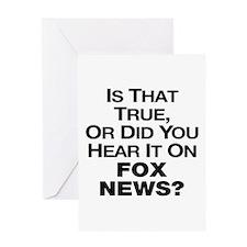 True or Fox News? Greeting Card