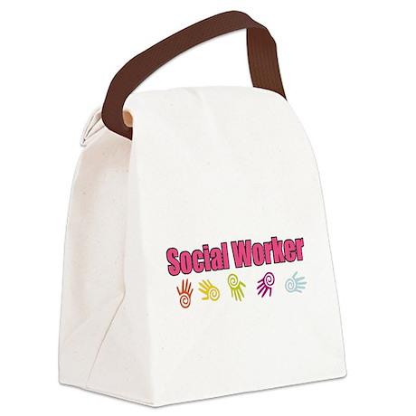 Social Work G Canvas Lunch Bag