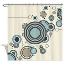 Circles Streaming Shower Curtain