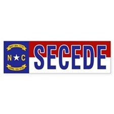 Secede - NORTH CAROLINA Bumper Sticker