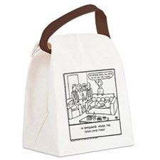 Sit On The Floor - Canvas Lunch Bag