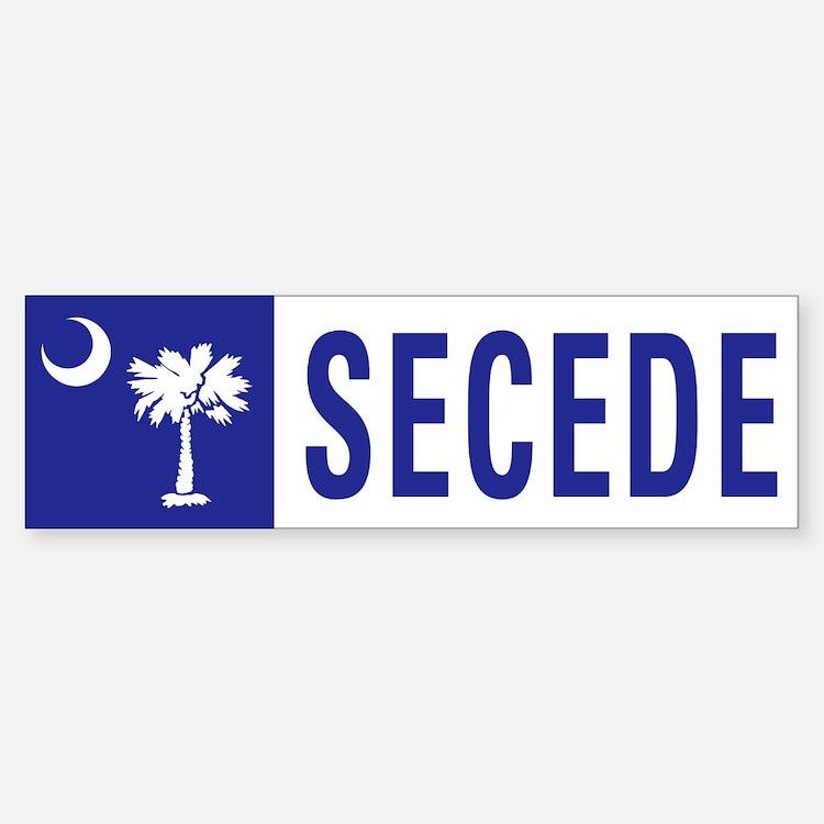 Secede - SOUTH CAROLINA Bumper Bumper Sticker