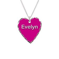 Evelyn Pink Heart Necklace Charm