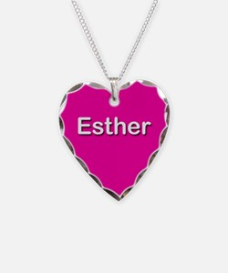 Esther Pink Heart Necklace Charm
