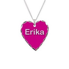 Erika Pink Heart Necklace Charm