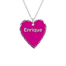 Enrique Pink Heart Necklace Charm