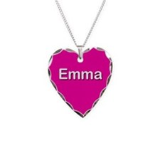 Emma Pink Heart Necklace Charm