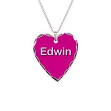 Edwin Pink Heart Necklace Charm