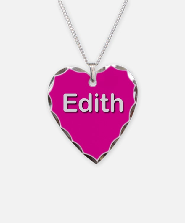 Edith Pink Heart Necklace Charm