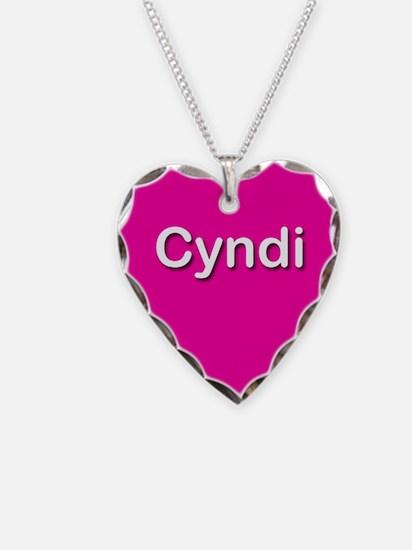 Cyndi Pink Heart Necklace Charm