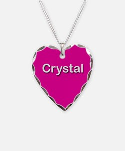 Crystal Pink Heart Necklace Charm